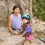Climbing in Boulder Canyon with my daughter when she was 4 years old.