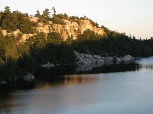 Beautiful Lake Minnewaska, ringed by cliffs.