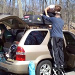 Packing the car with too much stuff for a climbing trip to the New River Gorge