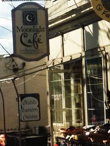 The Moonlight Cafe in New Paltz, Middle Eastern Restaurant.