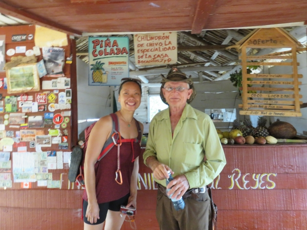 Kay with Raul of Raul's farm, Viñales, Cuba