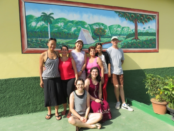Our gang with our host, Mayrita and her family in Viñales, Cuba