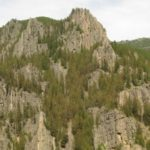 Gallatin Canyon - rock climbing area near Bozeman Montana.