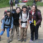 My kids and their climbing posse.
