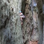 My daughter, Ariel, climbing a 7a in Cueva Larga, Viñales, Cuba