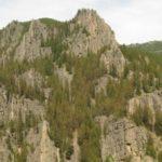 Gallatin Canyon - rock climbing area near Bozeman Montana.